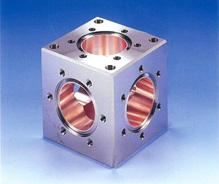 CrN表面処理 ICFフランジタイプキューブ(アルミニウム合金)